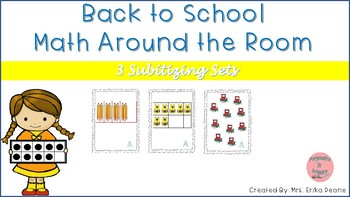 Back to School Bundle! 5 Frame, 10 Frame, Scattered Arrangements