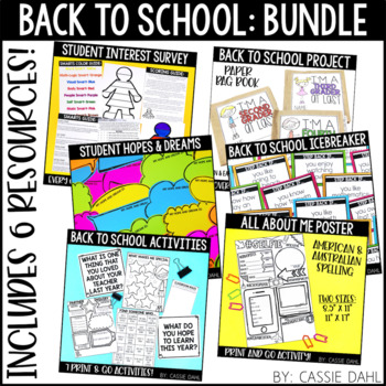 Back to School Bundle (Activities, Bulletin Boards, Printables, Book and More)
