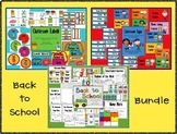 Back to School Bundle: Activities, Labels and Schedule/Center Cards