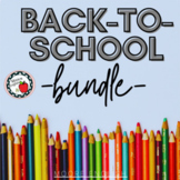 Back-to-School Bundle / Back-to-School Stations (9 resourc