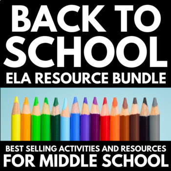 Back to School Activities for Middle School English - Resource Bundle