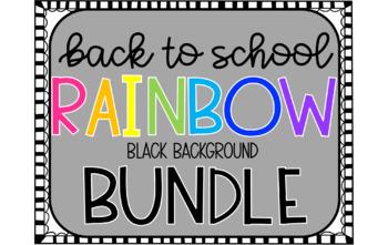 Back to School Bundle (Black Rainbow Theme)