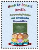 Back to School Bundle:  Building Community and Establishin