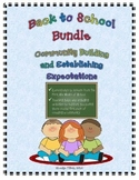 Back to School Bundle:  Building Community and Establishin
