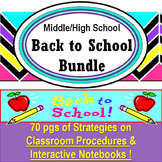 Back to School Bundle-Classroom Procedures and Interactive Notebooks Grades 7-12
