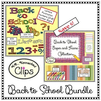 Back to School Bundle - Clip Art