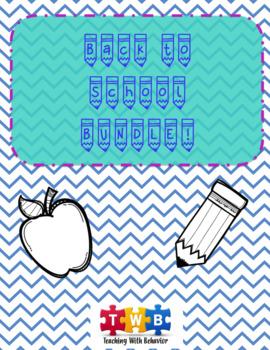 Back to School Bundle - EDITABLE
