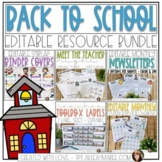 Back to School BUNDLE {Editable Light Shiplap}