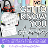 Back to School: Six GTKY Lessons for Google Classroom Grades 7-12 (EDITABLE)