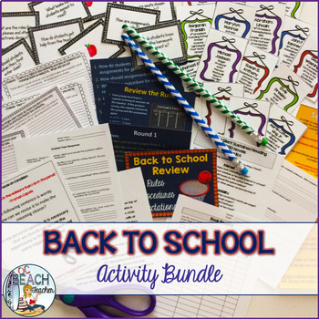 Back to School  Bundle:  Five First Week Activiites