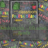 Back to School Bundle Grade Teacher's Gift K-6