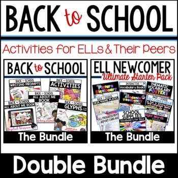 Back to School Activities Differentiated for Whole Class & Beginning ELLs