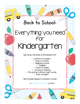 Back to School Bundle - HUGE Freebie! - Assessing Kindergarten Readiness