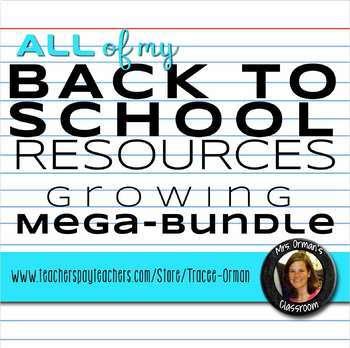 Back to School Bundle: Icebreakers, Memes, Decor, Rules, Procedures