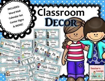 Back to School Bundle - Labels, Calendar Set, Word Wall +