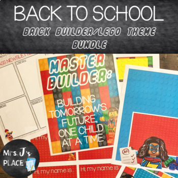 Back to School Bundle, Brick Builder/Lego Inspired Theme