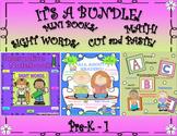 Bundle! Kindergarten Mini Books Interactive notebook  Printables Sight Words