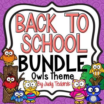 Back to School Bundle (Owl Theme)