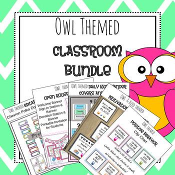 Classroom Management Bundle {Owl Theme}