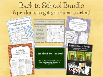 Back to School Bundle Pack - 6 products!