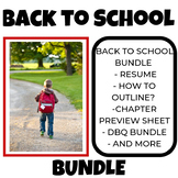 Back to School Bundle History class