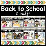 Back to School Bundle Pre-K Preschool