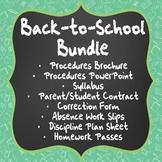 Back-to-School Bundle: Procedures, Syllabus, Classroom Management