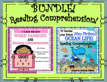 Bundle Reading Comprehension Passages and Questions!