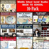 Back to School Bundle - Resources for Middle School Social