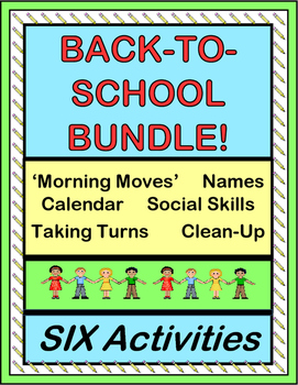 """Back to School Bundle!"" -- Six Group Activities and Posters to Start Your Day!"