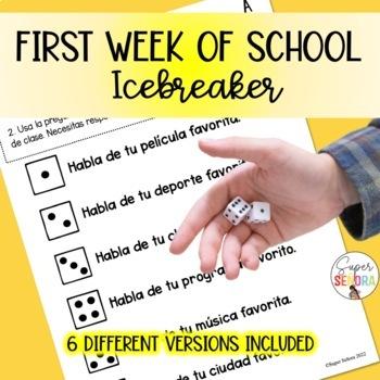 Back to School Bundle Spanish Icebreakers and Activities