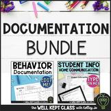 Back to School Bundle (Student Info /Parent Comm & EDITABLE Behavior Doc)