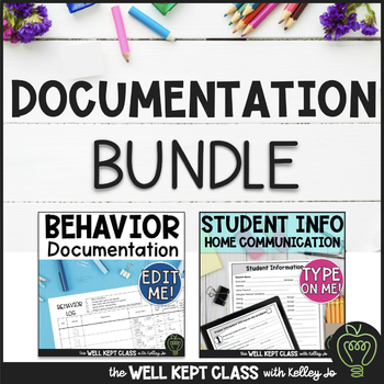 Back to School  Bundle (Student Info /Parent Comm & EDITABLE Behavior Doc)