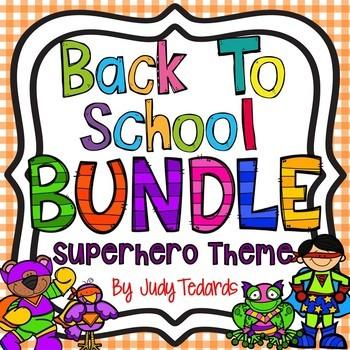 Back to School Bundle (Superhero Theme)