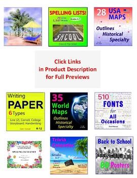 Back to School Bundle | Teacher Tools | 1,216 Things (Gr. 3-7)