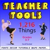 Back to School Bundle   Teacher Tools   1,216 Things (Gr. 3-7)