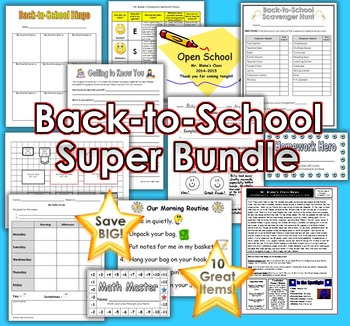 Back-to-School Bundle: Ten Great Products to Help You Start Your Year Off Right!