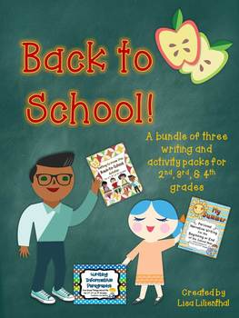 Back to School Bundle ~ Three Writing & Activity Packs