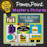 Back to School Bundle Watch, Think, Color Mystery Pictures - EXPANDING BUNDLE