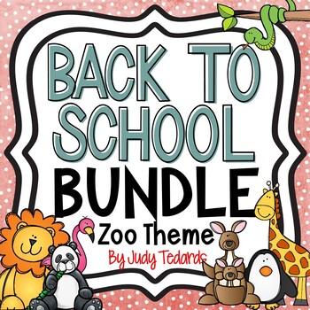 Back to School Bundle (Zoo Animals Theme)