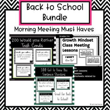 Back To School Bundle For Classroom Management Decor And Morning