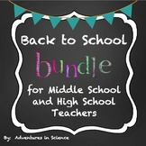 Back to School Bundle for Middle School & High School Teac