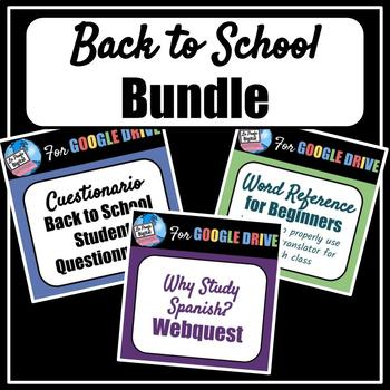 Back to School Bundle for Spanish Class