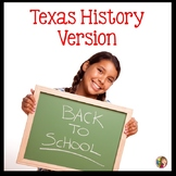 Back to School Bundle for Texas History