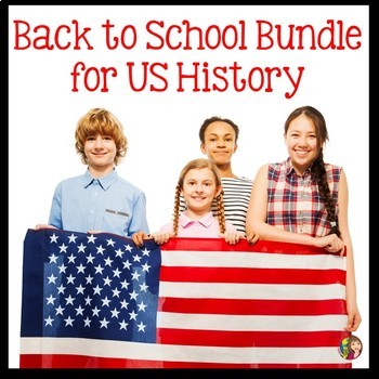 Back to School Bundle for US History
