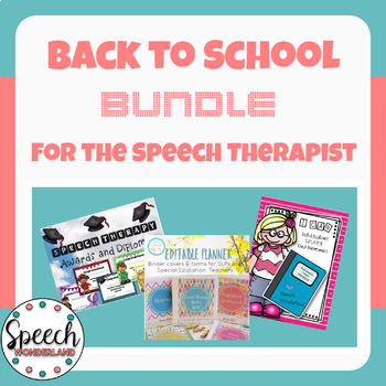 Back to School Bundle for the Speech Therapist