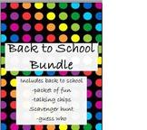 Back to School Bundle of Fun