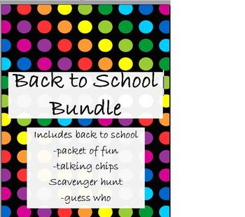 Back to School Bundle of Fun