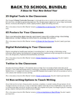 Back-to-School Bundle of Ideas for your Classroom