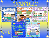 Bundle of READING COMPREHENSION PASSAGES and QUESTIONS  CONSONANT GAME!